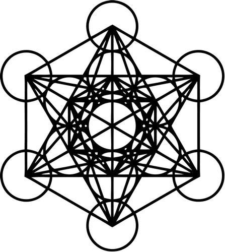 Mandy Graphics Metatron Cube Sacred Geometry Vinyl Die Cut Decal Sticker for Car Truck Motorcycle Windows Bumper Wall Home Office Decor Size- [6 inch/15 cm] Tall and Color- Gloss Black (Die Cube Cut)