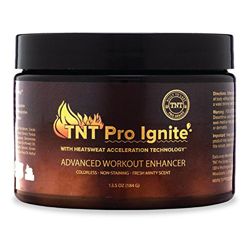 TNT Pro Ignite Stomach Fat Burner Body Slimming Cream With HEAT Sweat Technology - Thermogenic Weight Loss Workout Enhancer (13.5 oz Jar) …