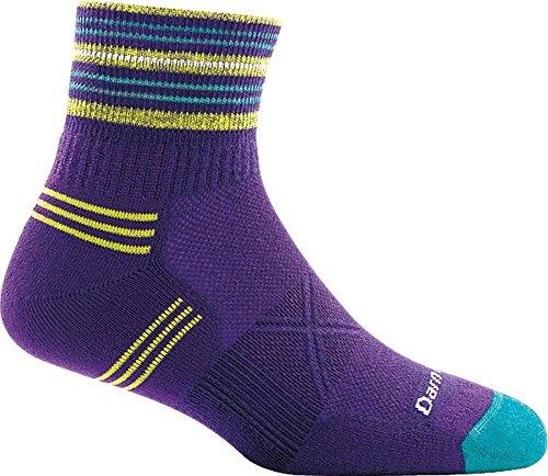 Darn Tough Coolmax 1/4 Sock - Darn Tough Vertex Coolmax 1/4 Ultra-Light Sock - Women's Purple Medium