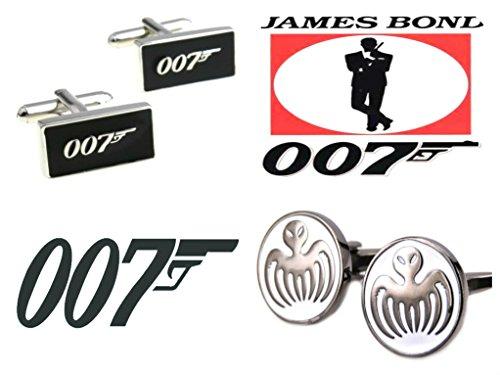 J&C James Bond 007 and Spectre Logos (2 Sets) Cufflinks