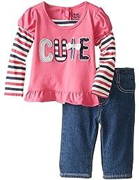 Baby-Boys Newborn 2 Piece Cutie Shirt and Woven Pant Set