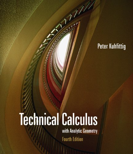 Technical Calculus with Analytic Geometry (Available Titles CengageNOW)