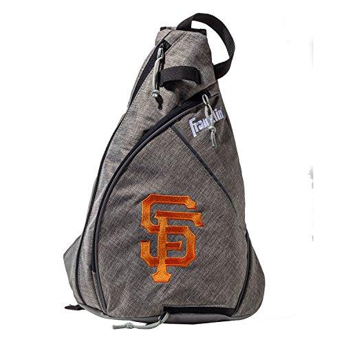 Franklin Sports San Francisco Giants Slingback Baseball Crossbody Bag - Shoulder Bag w/Embroidered Logos - MLB Official Licensed ()