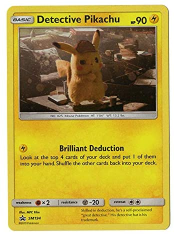 detective pickachu card
