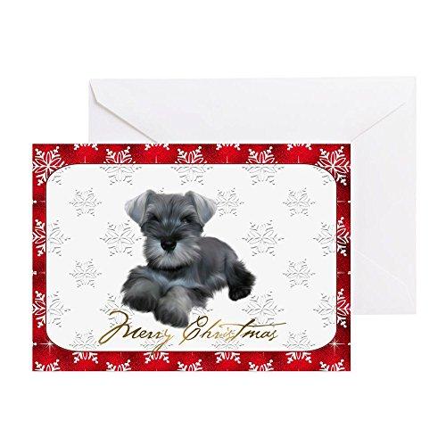 CafePress Schnauzer Christmas Card Greeting Card, Note Card, Birthday Card, Blank Inside Glossy