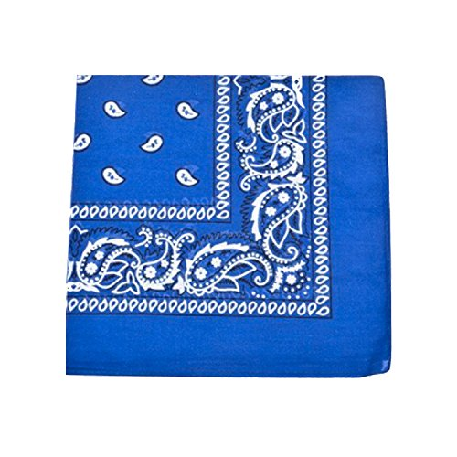 (Mechaly Paisley 100% Cotton Bandanas (Royal Blue))