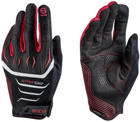 Sparco 002094NRRS10 002094/ nrrs10/ HyperGrip Gloves Black//Red
