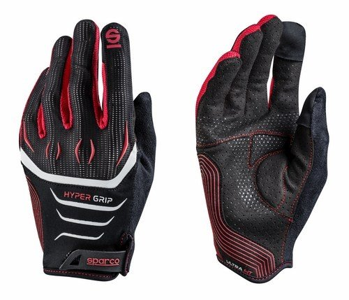 Nero//Rosso Sparco 002094/nrrs10/hypergrip Guanti
