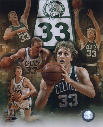 Larry Bird Legends of the Game Composite Photo Print (8 x 10) (Larry Bird Picture)