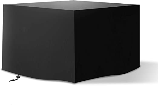 Oferta amazon: Tvird Funda para Muebles de Jardín,Copertura Impermeable para Mesas Rectangular,Cubierta de Exterior Funda Protectora Muebles Mesas Sillas Sofás Exterior 420D Oxford 125x125x74cm Negro.