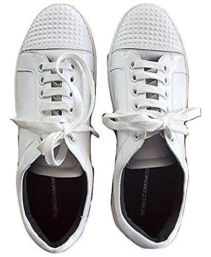 Rebecca Minkoff Bleecker White Leather Embellished Stud Sneaker 9.5
