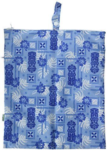 green sprouts by i play. Waterproof Travel Wet Bag, Light Blue Tiki, One Size by i play.