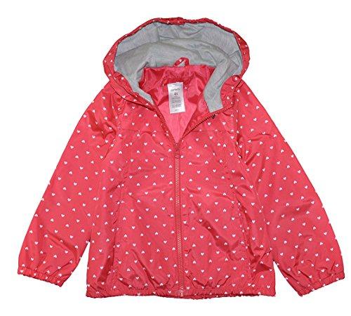 Carter's Baby Girls Poppy Red Heart Print Windbreaker Jacket, Poppy Red (12 Months)