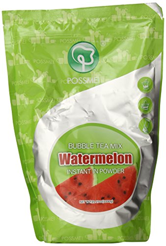 Possmei Bubble Tea Mix Instant Powder, Watermelon, 2.2 Pound ()