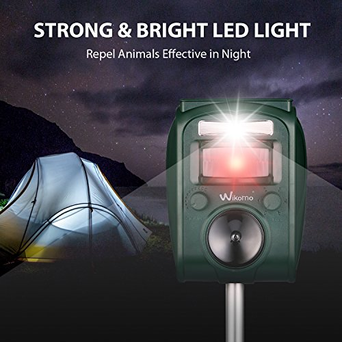 Solar Animal Repeller Humane Ultrasonic Pest Control