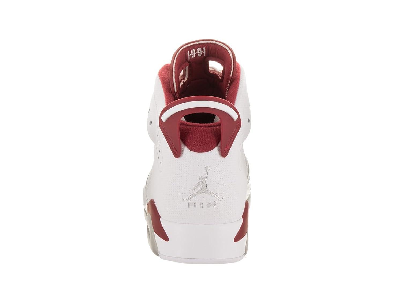 75a20fbe66f5 ... greece nike jordan mens air jordan 6 retro white gym red pure platinum basketball  shoe 13