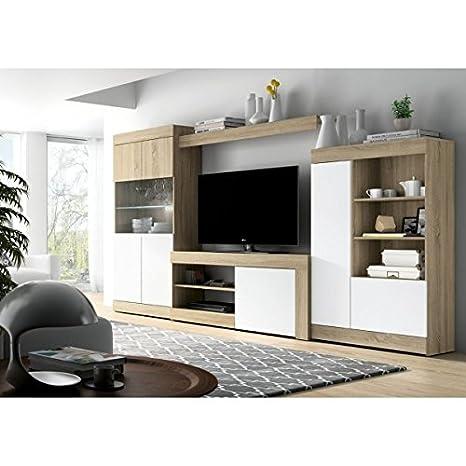 Mobelcenter - Mueble Salón Logan 004 - Blanco y Cambrian ...