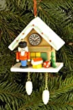 Tree ornaments Tree ornament Cuckoo Clock brown with Nutcracker - 6,7 x 6,3cm / 2.6 x 2.5inch - Christian Ulbricht