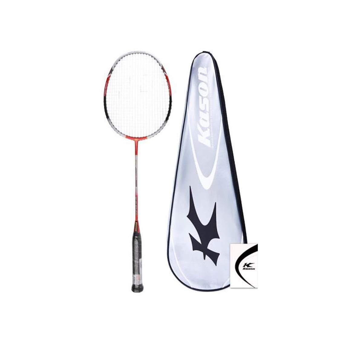 Tongboshi Badminton Racket, Speed Type Full Carbon Badminton, (Already Threaded), Red Silver, White, Blue Black, White Blue, White Black, Black Orange Badminton Racket, (Color : Black Orange)