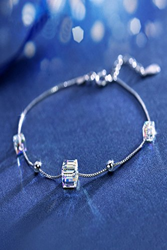 Womens Sugar Cube - Generic S925_pure_ silver bracelet bangle women girls _auroral_sugar_cube_elements Austrian_crystal_ bracelet bangle