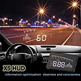 ETbotu 3'' Vehicle Car HUD Projector Head Up Display Speed Warning Fuel OBD II Speedometer