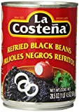 La Costena Refried Black Beans, 20.5 Ounce (Pack of 12)