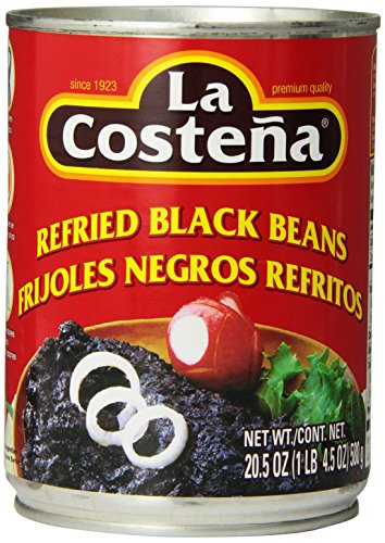 La Costena Refried Black Beans, 20.5 Ounce (Pack of 12) by La Costena