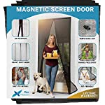"Reinforced Magnetic Screen Door : Doors 38* 82"" Black"