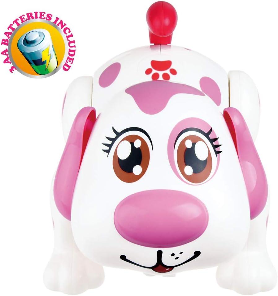 Perro robot mascota electrónica. Cachorro interactiva. Baterías originales incluidos. Helen responde a las actividades táctiles, para caminar, persiguiendo y divertido