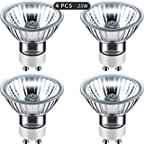 Mudder 25 Watt Replacement Bulb for Candle Warmer, Bulbs for Wax Warmers, Candle Warmer Light Bulbs, Gu10+c 120 V 25 W(4 Packs)