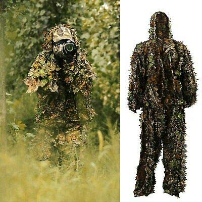 Canvoi 3D Ghillie Suit Set Sniper Train Leaf Jungle Forest Wood Hunting Camouflage ()