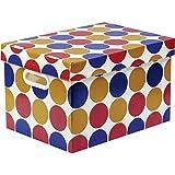 Caixa Organizadora Decorada Prontobox Bolas Grande - Unidade, Polycart, 7612/9, Multicolorido