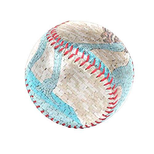 (Baseballs Woman Face Mosaic Surreal Painting Baseball Ball for League Play/Practice/Gifts)