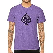 Unisex Mens Ace Of Spades Print Quality Triblend Short Sleeve T-Shirt