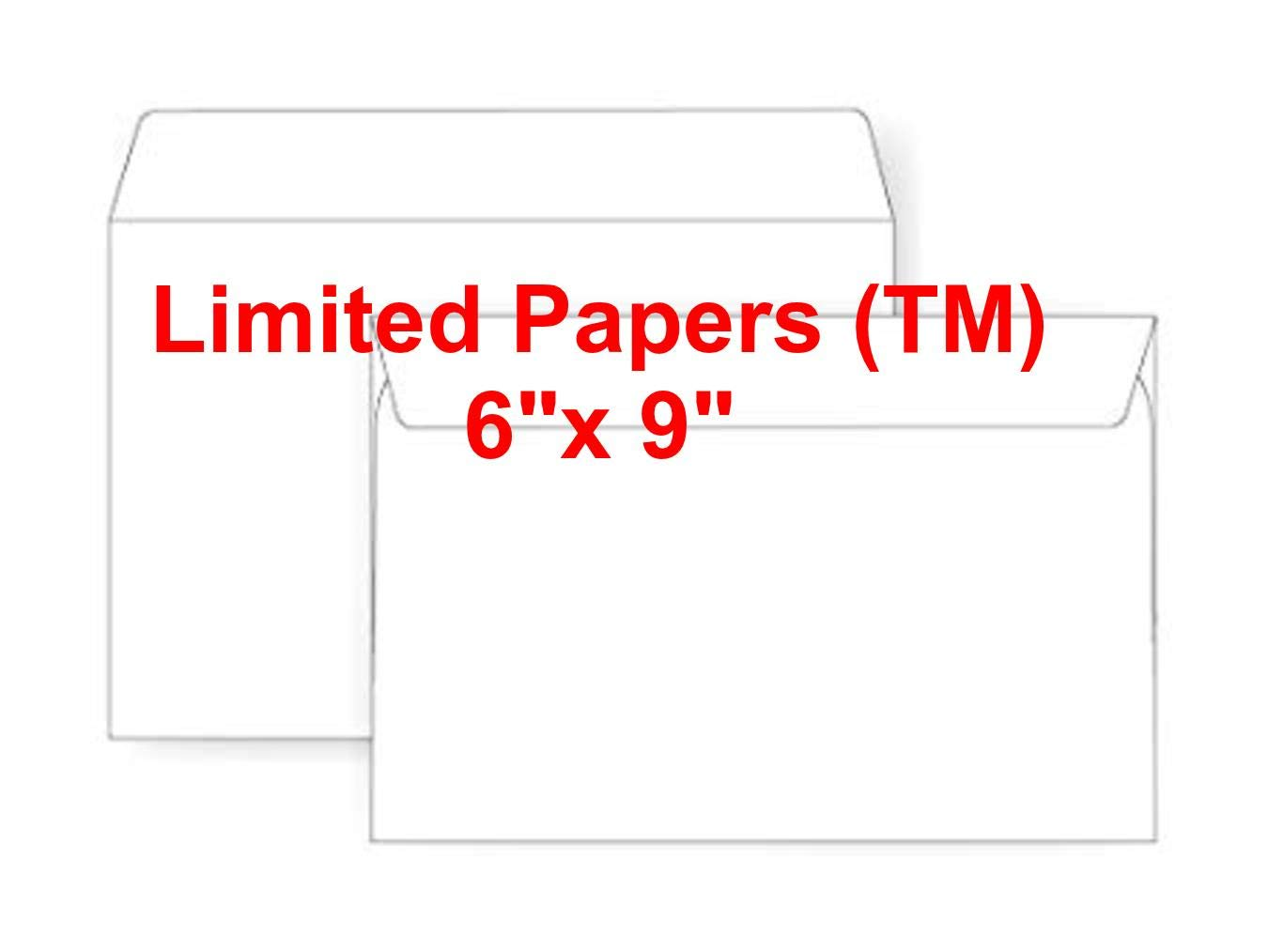 Open Side- 6 x 9 6 x 9 Booklet Envelope 2500 24# White Wove - Jumbo Envelope Series TM Limited Papers