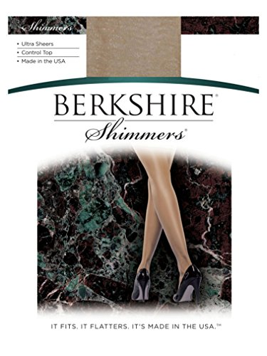 Berkshire Shimmers Pantyhose 4429, Champagne, Size 2