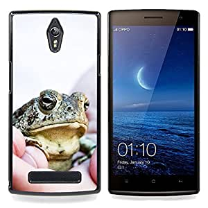 Ihec Tech Feliz grandes frescos de la rana / Funda Case back Cover guard / for OPPO Find 7 X9077 X9007