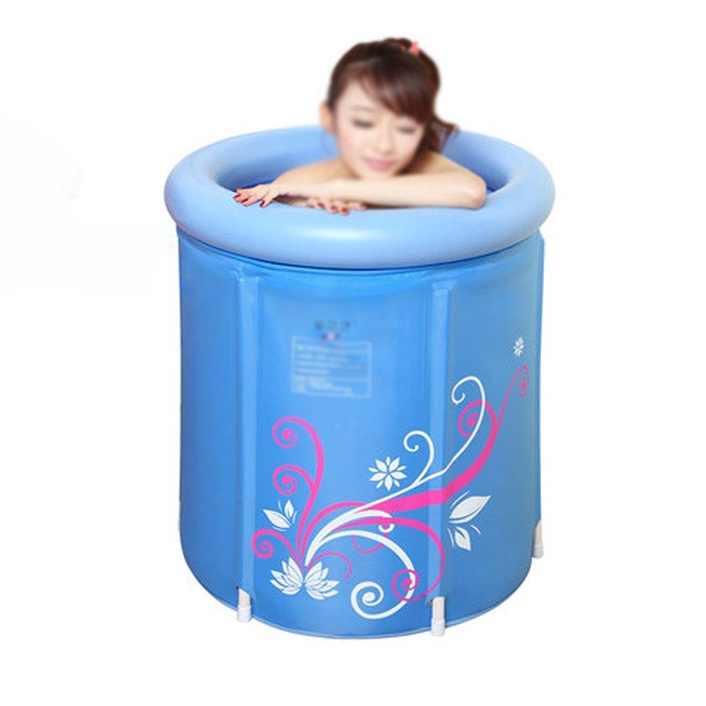 65x65cm LUYIASI- Body Padded Cotton Folder Folding Bath Tub Adult Tub Inflatable Bathtub Tub(bluee) bathtub ( color   65x65cm )