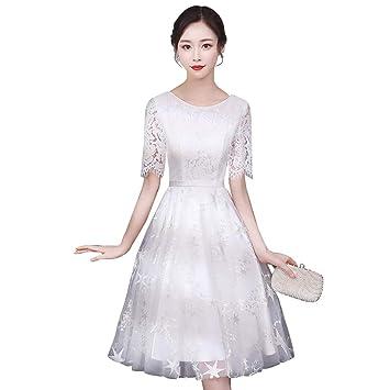 Robe de mariée pour Femme col Rond élégante Robe de soirée