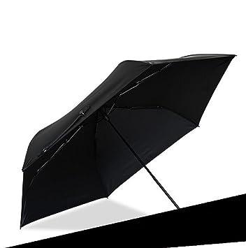 Hzhy Paraguas al Aire Libre Venta al por Mayor Paraguas Negro de la Protección UV de