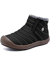 Men and Women Snow Boots Fur Lined Winter Outdoor Slip On...