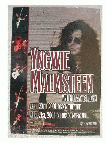 (2 Yngwie Malmsteen Handbill Poster Great Face Shot)