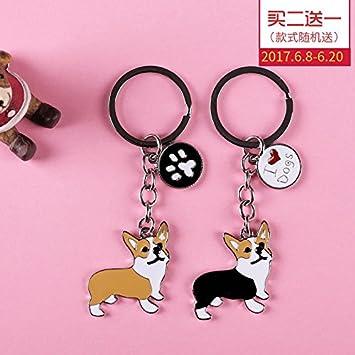 BBEART Dog Keychain ring Cool Cute Pet Dog Keyring Bag Charm Mini Metal Key Ring Keyfob