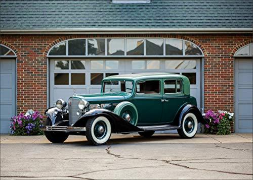 Innerwallz Cadillac Retro 1933 V12 370-C Town Sedan by Fisher Green Metallic Cars Wall Art, Pop Art, Poster, Art Prints | Rare -