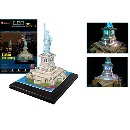 CubicFun Statue of Liberty - LED Lit - 3D Jigsaw Puzzle