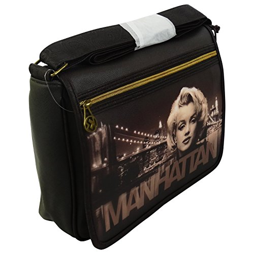 Marilyn Manhattan Borsa Donna Tracolla Messenger a Spalla Porta Pc Tablet
