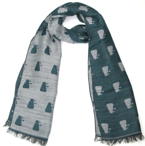 Petrol Blue Dalek Scarf - Official BBC Doctor Who Scarf by -