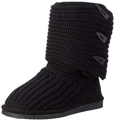 Bearpaw Women's Knit Tall Snow Boot (5 B(M) US / 36 EUR, Black)
