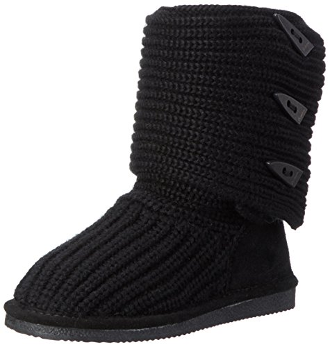 BEARPAW Women's Knit Tall Winter Boot, Black, 8 M US (Sweater Boots For Women)