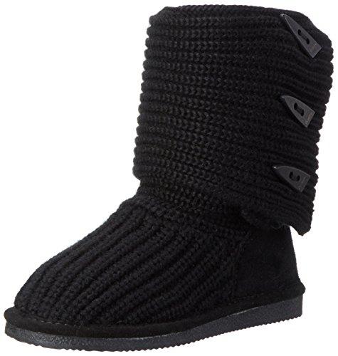 BEARPAW Women's Knit Tall Boot,Black,6 M US (Knit Womens Boots)